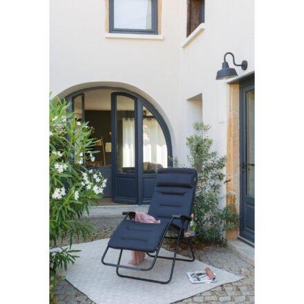 "Lafuma Relaxsessel ""RSX Clip XL"", Stahlrohr schwarz, Textilgewebe AIR COMFORT® acier © LAFUMA MOBILIER - Pierrick Verny"