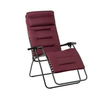 "Lafuma Relaxsessel ""RSX Clip XL"", Stahlrohr schwarz, Textilgewebe AIR COMFORT® bordeaux © LAFUMA MOBILIER - Pierrick Verny"