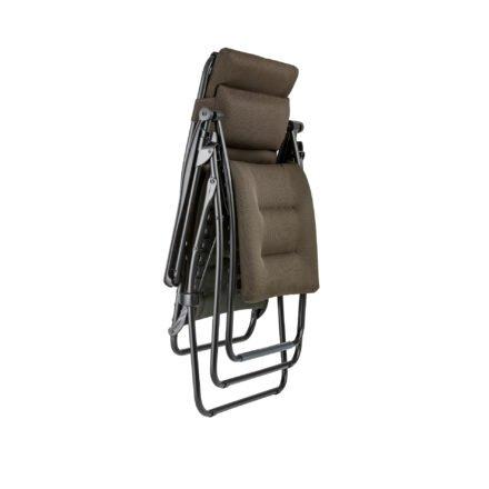 "Lafuma Relaxsessel ""RSX Clip XL"", Stahlrohr schwarz, Textilgewebe AIR COMFORT® taupe © LAFUMA MOBILIER - Pierrick Verny"