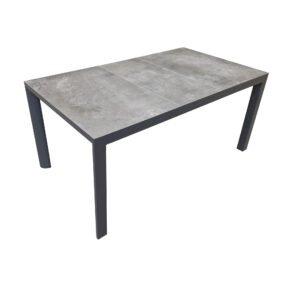 "Lesli Living ""Murcia"" Gartentisch 160x90 cm, Alu charcoal, Tischplatte Keramik stone"