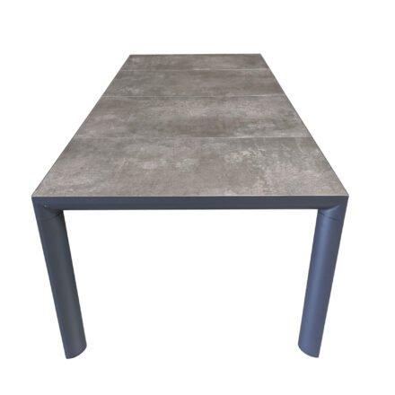 "Lesli Living ""Murcia"" Gartentisch 220x100 cm, Alu charcoal, Tischplatte Keramik stone"