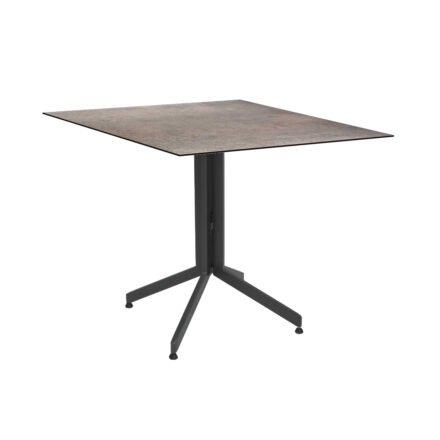 Stern Bistrotisch 80x80 cm, Gestell Alu anthrazit, Tischplatte HPL Smoky