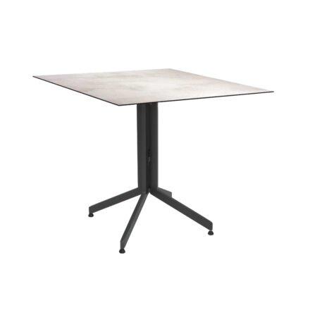 Stern Bistrotisch 80x80 cm, Gestell Alu anthrazit, Tischplatte HPL Zement Hell