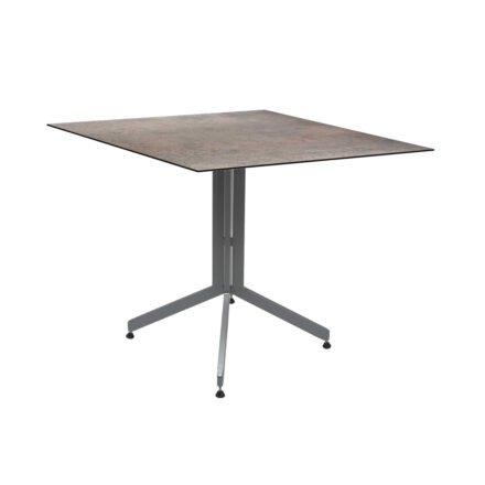 Stern Bistrotisch 80x80 cm, Gestell Alu graphit, Tischplatte HPL Smoky