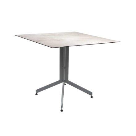 Stern Bistrotisch 80x80 cm, Gestell Alu graphit, Tischplatte HPL Zement Hell