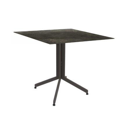 Stern Bistrotisch 80x80 cm, Gestell Alu taupe, Tischplatte HPL Dark Marble