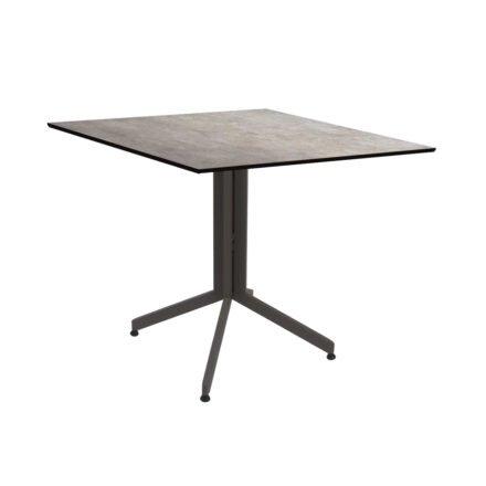 Stern Bistrotisch 80x80 cm, Gestell Alu taupe, Tischplatte HPL Metallic Grau