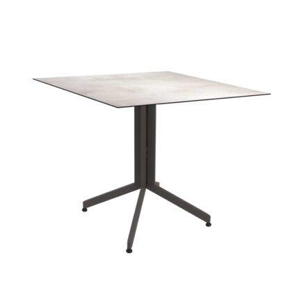 Stern Bistrotisch 80x80 cm, Gestell Alu taupe, Tischplatte HPL Zement Hell
