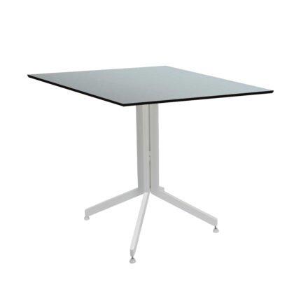 Stern Bistrotisch 80x80 cm, Gestell Alu weiß, Tischplatte HPL Nordic Green