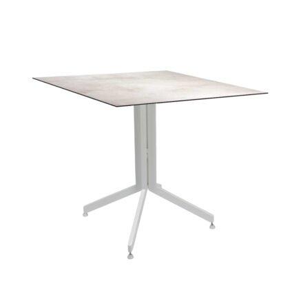 Stern Bistrotisch 80x80 cm, Gestell Alu weiß, Tischplatte HPL Zement Hell