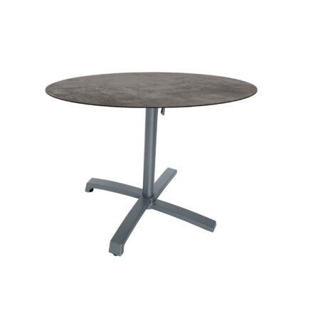 """Stern """"Livorno"""" Bistrotisch 80cm, Gestell Alu graphit, Tischplatte HPL Zement"""