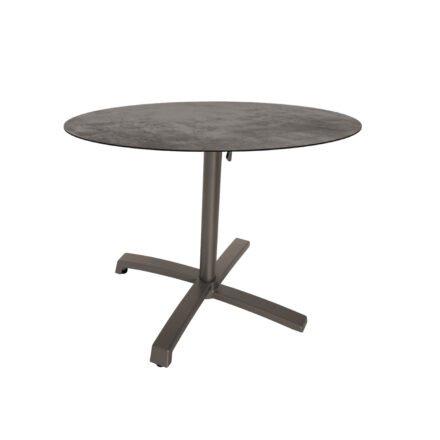 """Stern """"Livorno"""" Bistrotisch 80cm, Gestell Alu taupe, Tischplatte HPL Zement"""