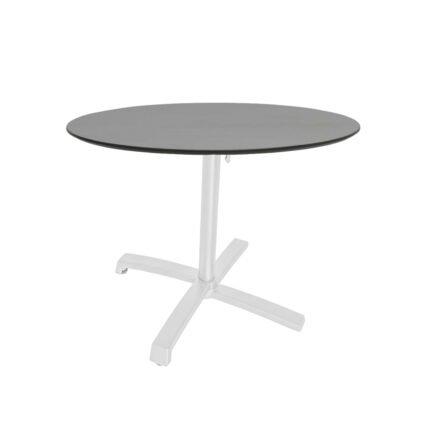 """Stern """"Livorno"""" Bistrotisch 80cm, Gestell Alu weiß, Tischplatte HPL Uni Grau"""