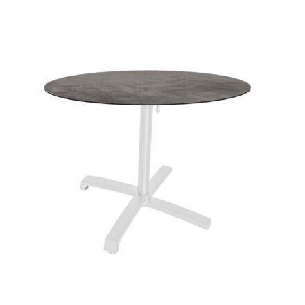 """Stern """"Livorno"""" Bistrotisch 80cm, Gestell Alu weiß, Tischplatte HPL Zement"""
