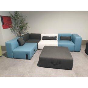 "Conmoto ""Miami"" Loungeset, Sunbrella® anthrazit, hellgrau, blau, Ausstellung Stockach"