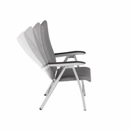"Kettler ""Forma II Premium"" Multipositonssessel, Gestell Aluminum silber, Sitzfläche Sunbrella® flanelle (grau meliert)"