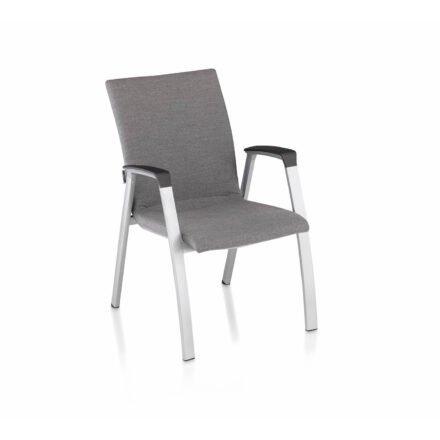 """Kettler """"Forma II Premium"""" Stapelsessel, Gestell Aluminum silber, Sitzfläche Sunbrella® flanelle (grau meliert)"""