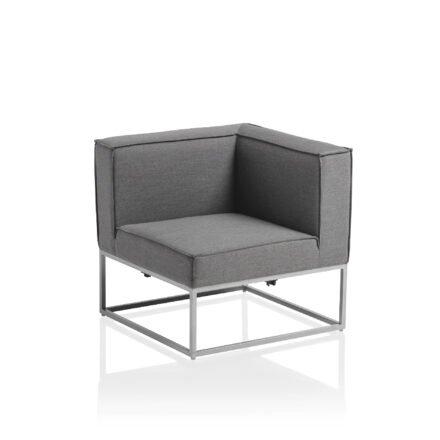 """Kettler """"Modena"""" Lounge-Eckteil, Gestell Aluminium silber, Polster Sunbrella® flanelle"""