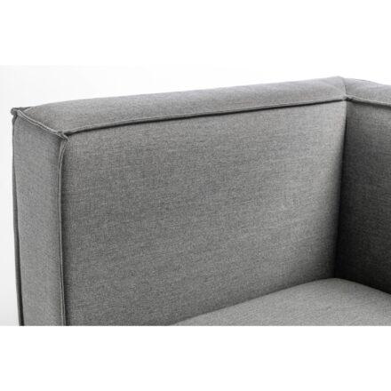 """Kettler """"Modena"""" Lounge-Eckteil, Gestell Aluminium silber, Polster Sunbrella® flanelle, Detail Armlehne"""