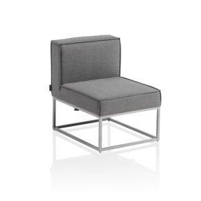 "Kettler ""Modena"" Lounge-Mittelteil, Gestell Aluminium silber, Polster Sunbrella® flanelle"