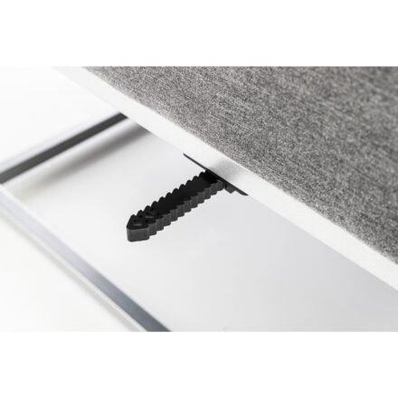 "Kettler ""Modena"" Lounge-Mittelteil, Gestell Aluminium silber, Polster Sunbrella® flanelle, Detail Verbinder"