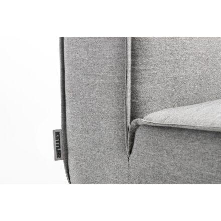 """Kettler """"Modena"""" Lounge-Mittelteil, Gestell Aluminium silber, Polster Sunbrella® flanelle, Detail"""