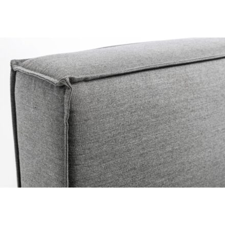 """Kettler """"Modena"""" Lounge-Mittelteil, Gestell Aluminium silber, Polster Sunbrella® flanelle, Detail Paspelung"""