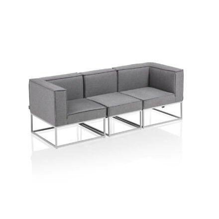 """Kettler """"Modena"""" Loungegruppe, Gestell Aluminium silber, Polster Sunbrella® flanelle"""