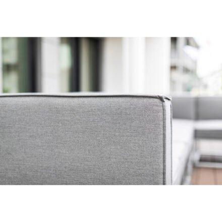 """Kettler """"Modena"""" Loungegruppe, Gestell Aluminium silber, Polster Sunbrella® flanelle, Detail Eckteil"""