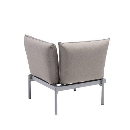 "Kettler ""Straight"" Lounge Eckteil, Gestell Aluminium silber, Polster Olefin beige-braun"