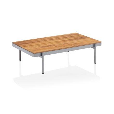 """Kettler """"Straight"""" Loungetisch, Gestell Aluminium silber, Tischplatte Teak"""