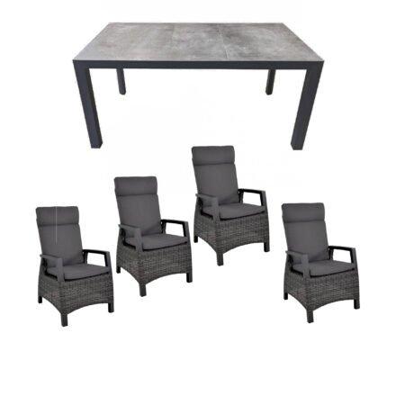 """Lesli Living Gartenmöbel-Set mit Diningsessel """"Prato Forte"""" und Tisch 160x90cm """"Murcia"""