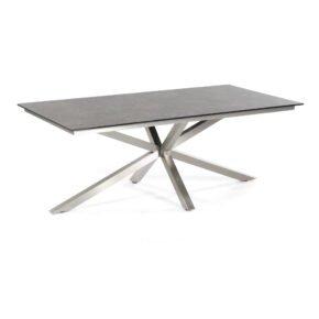 "Sonnenpartner Tisch 200x100 cm ""Base-Spectra-Diagonal"", Edelstahl, Tischplatte HPL"