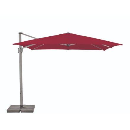 """Sonnenschirm """"Sunflex"""" von SUNCOMFORT® by GLATZ, eckig, 300 cm x 300 cm, Dessin 064 - Aurora red"""