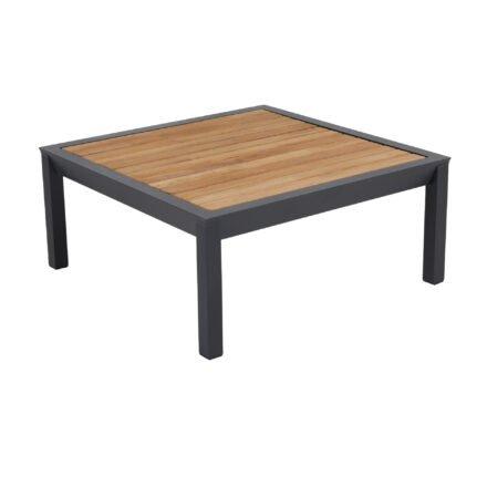"""Brafab """"Elora"""" Loungetisch, Aluminiumgestell schwarz mit Teakplatte"""