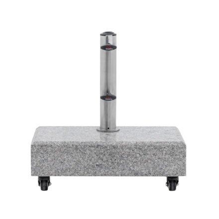 Doppler Balkon-Granitsockel mit Rollen, 25 kg