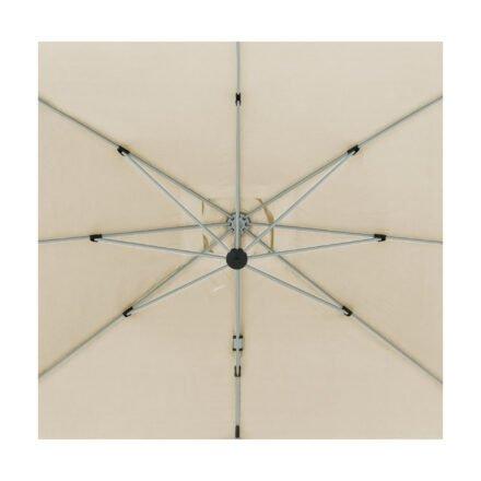 """Doppler """"Active"""" Ampelschirm 350x260 cm, Aluminium, Bezug Natur"""