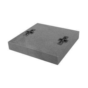 Doppler Granitplatte 50x50x8 cm, Gewicht 55 kg