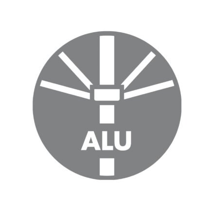 Doppler Sonnenschirm - Gestell Aluminium