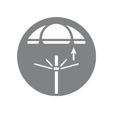 Doppler Sonnenschirm - Bezug abnehmbar