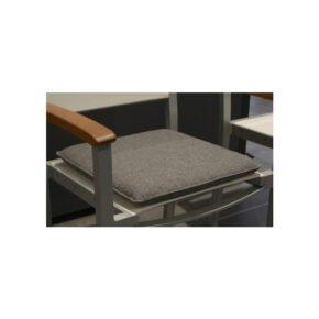 Fischer Möbel Universalauflage/Sitzkissen, Farbe granite, mit Quick Dry Füllung, 44 x 44 cm