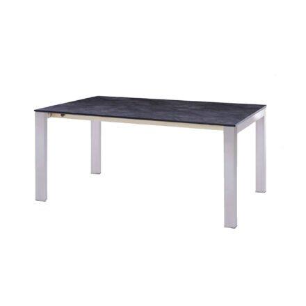 """Diamond Garden Gartentisch """"Palermo"""", Tischbeine Edelstahl, Tischplatte HPL Schiefer, 170/220/270x100 cm"""
