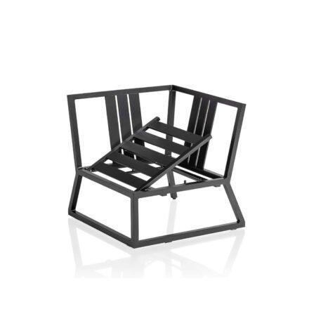 "Kettler ""Ocean Skid Modular"" Eckteil, Gestell Aluminium anthrazit, Sitzfläche verstellbar"