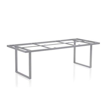 "Kettler ""Skate"" Tischgestell, Casual Dining, Aluminium silber, 220x95 cm"