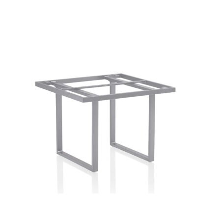 "Kettler ""Skate"" Tischgestell, Casual Dining, Aluminium silber, 95x95 cm"