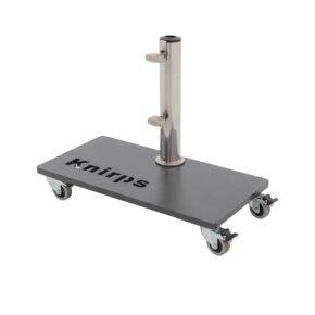 """Knirps Stahl-Rollsockel 25 kg mit Aufsatzrohr Edelstahl und vier Rollen für Sonnenschirm """"Automatic"""""""
