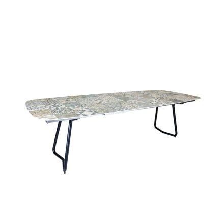"SIT Mobilia ""Jura-Delemont"" Ausziehtisch, Gestell Aluminium eisengrau, Tischplatte Keramik Azulecho"