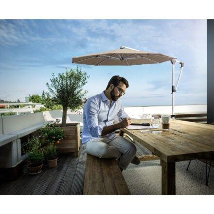 """Sonnenschirm """"SUNWING® Casa"""", Gestell Aluminium, von GLATZ (© by GLATZ AG, Schweiz)"""
