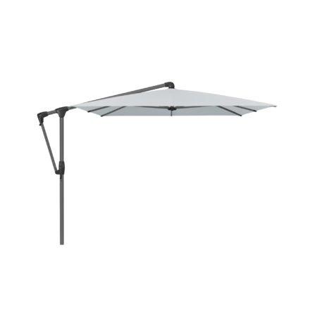 """Sonnenschirm """"SUNWING® Casa"""", Gestell Aluminium anthrazit, eckig, von GLATZ, Dessin 665 - Chrome (© by GLATZ AG, Schweiz)"""