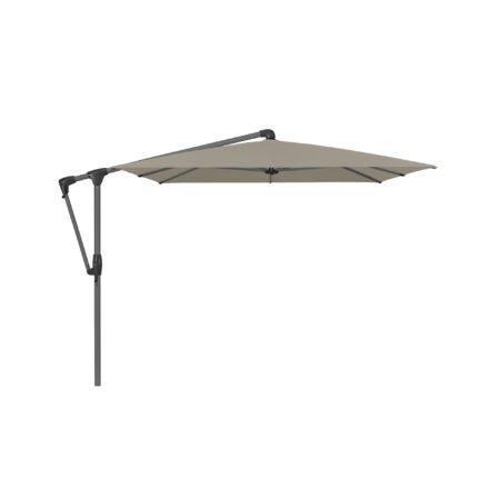 """Sonnenschirm """"SUNWING® Casa"""", Gestell Aluminium anthrazit, eckig, von GLATZ, Dessin 605 - Clay (© by GLATZ AG, Schweiz)"""